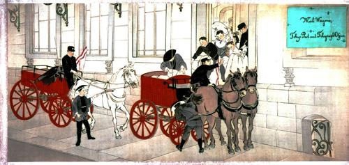 図3 郵便物運送馬車への積み込み