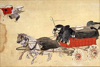 図3 「第十図 雪中の郵便馬車と人車」