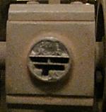 足踏式押印機の押印部分